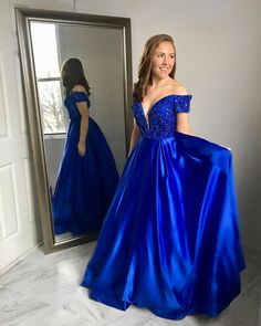 Unique Prom Dresses, 2020 Elegant A Line Satin Off Shoulder Sweetheart Beaded Long Royal Blue Prom Dresses, There are long prom gowns and knee-length 2020 prom dresses in this collection that create an elegant and glamorous look Pageant Dresses For Teens, 2 Piece Homecoming Dresses, Royal Blue Prom Dresses, Elegant Bridesmaid Dresses, Open Back Prom Dresses, Unique Prom Dresses, Long Prom Gowns, Backless Prom Dresses, Tulle Prom Dress