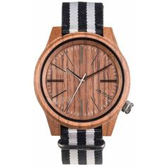 WeWood Wooden Watch - Torpedo Nut Grey (WTNTGR) - LIMITED STOCK (719485 PYG) ❤ liked on Polyvore featuring jewelry, watches, grey jewelry, wewood watches, wood wrist watch, gray watches and wood jewelry