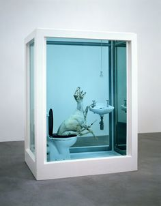 "Damien Hirst - The Tranquility of Solitude (for George Dyer), 2006. The sculpture bears testimony to the formative influence of Bacon on Hirst, who describes the experience of reading Bacon's interviews with David Sylvester as his ""way into art"" as a teenager.On acknowledging Bacon's influence on his work, Hirst explains: ""I think you have to move through whatever is in your path because it won't go away."""