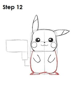 Dra w Pikachu Step 12 Pencil Art Drawings, Art Drawings Sketches, Easy Drawings, Drawing Cartoon Characters, Cartoon Drawings, Pikachu Tumblr, Pikachu Drawing Easy, How To Draw Pokemon, Drawing Tips