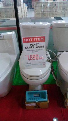 Harga #HOT hanya di #BnD 1,89 juta bisa dapat Closet duduk, Hand Shower, Kran Dinding. Grab it fast #BnDSEGI8