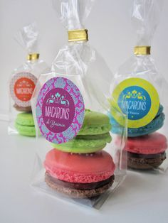 Macarons packaging and labeling