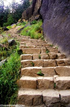 The Mist Trail Stairs ~ Yosemite National Park, California