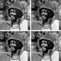Classic Photo: Peter Tosh and Keith Richards | That Eric ... Respect Hat Marley
