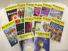 Broadway-Musical-Playbills-Lot-14-Colorful-Covers-Memphis-Normal-Once-Ragtime