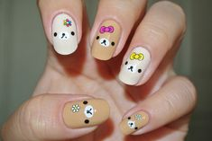 bear #nail #nails #nailart