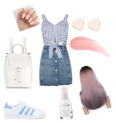 """""""Без названия #5"""" by annaisaeva2311 ❤ liked on Polyvore featuring Topshop, WithChic, adidas, French Connection and Ted Baker"""