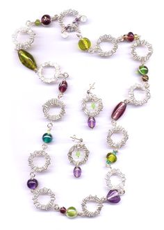 These Orbital Links make great chain systems!  www.wirejewellery.co.uk