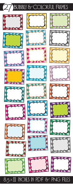 Make your products stand out with something a little different! These can be used for all projects for the classroom and beyond! Classroom Labels, Classroom Displays, Classroom Organization, Classroom Decor, Colorful Frames, School Labels, Borders And Frames, Binder Covers, Teacher Tools