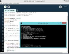 processing IDE for uploading g-code in arduino CNC machine