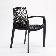 Chaise de jardin en résine, Grafic lux, couleur transparent
