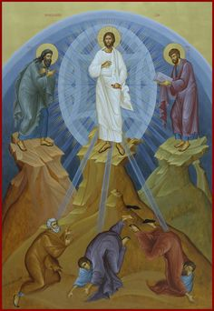 The Holy Transfiguration of Our Lord, God and Savior Jesus Christ. Church Pictures, Religious Pictures, Religious Icons, Byzantine Icons, Byzantine Art, Church Icon, Roman Church, The Transfiguration, Pictures Of Jesus Christ