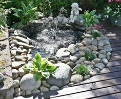 pond for backyard Garden Oasis, Garden Pool, Summer Garden, Water Garden, Lawn And Garden, Garden Design, Landscape Design, Pond Water Features, Backyard Paradise