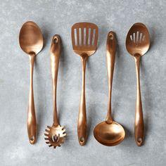 copper cook's tools