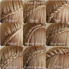 how to braid hair different styles | There are many different braids that this ca be done with. Another ...