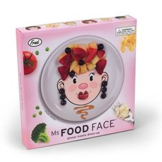 'Ms Food Face' Plate