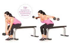 Seated bent-over rear delt flyes - Women's Health & Fitness