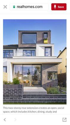 Loft Room, Bedroom Loft, Loft Conversion Design, Loft Conversions, Rear Extension, Extension Ideas, Bonus Rooms, House Extensions, Exterior Design