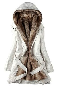 SGG Warm Hooded Faux Fur Ling Winter Coat Long Jacket Parka Women:Amazon:Clothing