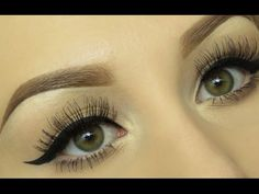 Straight across approach... interesting. Winged Eyeliner Tutorial (EASY Step by Step!) - YouTube