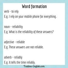 Efl Teaching, Teaching Resources, Word Formation, Word Building, Grammar Rules, Adverbs, English Grammar, Esl, Helping Others