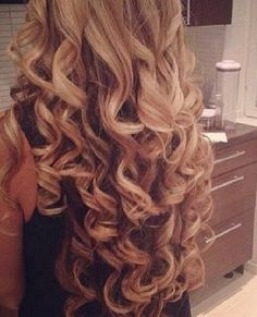 long blonde curls perty