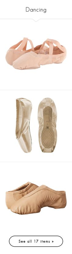 """""""Dancing"""" by just-the-shelleys ❤ liked on Polyvore featuring shoes, flats, dance, ballet, dance shoes, ballet flat shoes, pink flat shoes, stretch ballet flats, elastic ballet flats and stretchy ballet flats"""