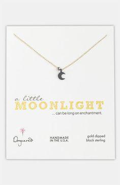 Dogeared 'A Little Moonlight' Moon Pendant Necklace