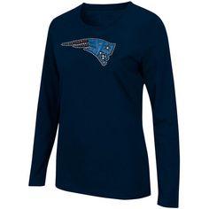 New England Patriots Ladies Bling Long Sleeve T-Shirt - Navy Blue $25.95 http://www.newenglandusa.com/New-England-Patriots-Pro-Shop/new-england-patriots-womens-apparel.php