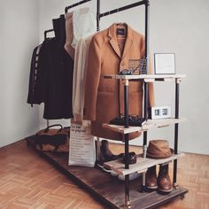 Clothes Rail Industrial Design  Design by Me  Realised Project by Antonio & Me  #industrial#design#industrialdesign#clothesrail#0711#stuttgart#designed#by#me#and#my#dad#realised#project#kleiderstange#living#interior#interiordesign#bedroom#fashion