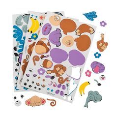 Adhesive Build-An-Animal Shapes - OrientalTrading.com
