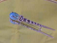 Long Scottish Hallmarked Faux Turquoise by EternalElementsEtsy