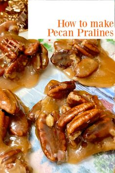 Easy pecan praline recipe with DETAILED instruction. Pecan Praline Recipe Easy, Butter Pecan, Easy Recipes For Beginners, Cooking For Beginners, Mini Desserts, Christmas Desserts, Canning Refried Beans, Pecan Pralines, Fall Recipes