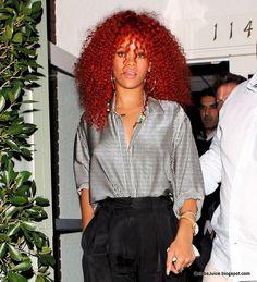 Rihanna  Natural hair