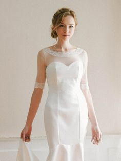 wedding cover up boatneck lace top tulle top bridal cover up wedding