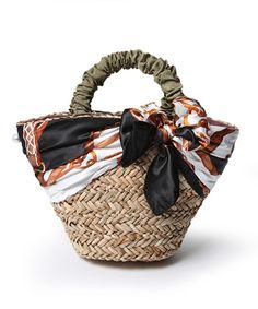 OPAQUE / OPAQUE 春夏におすすめのスカーフカゴバッグ