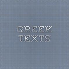Greek texts
