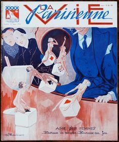 Henry Fournier. Parisettes Jazz. La Vie Parisienne, 12 Mars 1932. [Pinned 5-vi-2016]