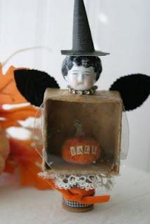Little witchy fairy pumpkin decoration