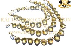 Citrine Faceted Flower (St. Drill) (Quality A+) Shape: Flower Faceted Length: 18 cm Weight Approx: 11 to 13 Grms. Size Approx: 9.50 to 11.50 mm Price $41.40 Each Strand