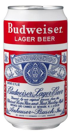 Anheuser-Busch Cos. is introducing Budweiser Beer  packaged in repilca cans from the 1930's to the 1950's in St. Louis on February 16, 2005. The 12-ounce cans containing the 129-year old beer brand will hopefully appeal to a younger crowd. The Budweiser White-split can was first produced in 1956. (UPI Photo/bg/Anheuser-Busch Cos.)