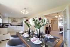 The dining area in The Canterbury at Crown Park in Chester | Bovis Homes