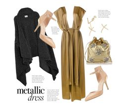 """""""Metallic Dressing..."""" by hattie4palmerstone ❤ liked on Polyvore featuring Acne Studios, Miu Miu, Lanvin, Enzo Angiolini, Stephen Webster and metallicdress"""