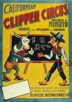 Californian Clipper Circus, Anonymous, 1950?. Biblioteca Valenciana Digital, Bivaldi. Public Domain.