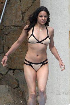 Michelle Rodriguez Photos Photos: Michelle Rodriguez in a Tan Bikini Sexy Bikini, Tan Bikini, Bikini Bottoms, Michelle Rodriguez, Sofia Vergara, Salma Hayek, Bikinis, Swimsuits, Swimwear