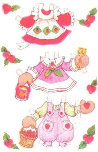 strawberry shortcake paper doll