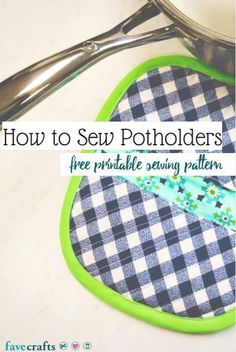 How to Sew Potholders Video - Sew adorable potholder DIY ideas with this free sewing pattern and tutorial.