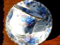 Royal Albert, moonlight Rose, 1987 Teacup, Tea Cup and Saucer, England 13264 - The Vintage Teacup - 2
