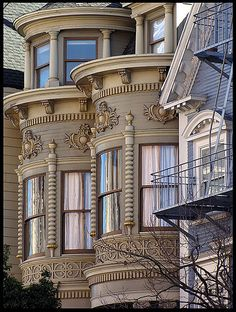 San Francisco Victorian with an oversized double bay that must have wonderful rooms inside.