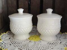Vintage Milkglass Covered Candy Jar Dish Wedding by misslillydawg